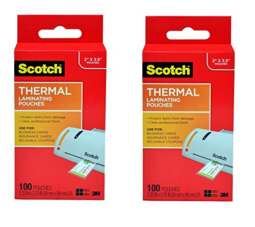 Scotch Thermal Laminating Pouches 2.32 x 3.70...