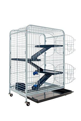 TYROL Cage pour Rongeurs TOWER, Accessoires inclus, Coloris...