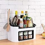 Surobayuusaku Kitchen Rack Seasoning Box Seasoning Can Bottle Set Combination Knife Holder