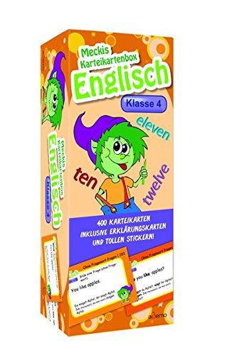 Karteibox Englisch Klasse 4: mit 400 farbigen Karteikarten und tollen Stickern