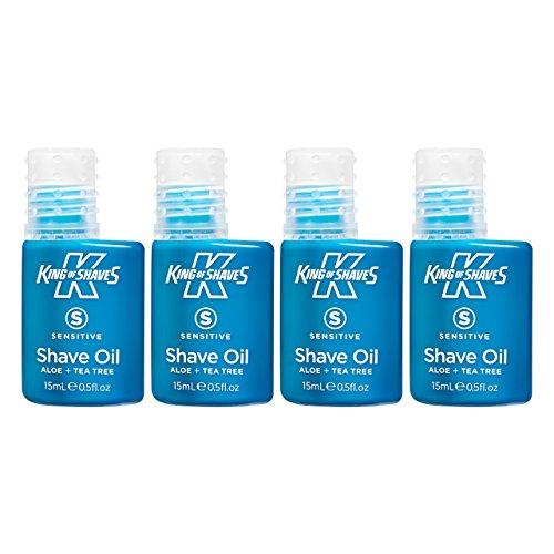 King of Shaves Mens Shaving Oil for Sensitive Skin 15 ml   QUAD-PACK   Mens Shaving Oil   Shave Care Products   Mens Shavecare   Shaving Serum   Travel Size Toiletries