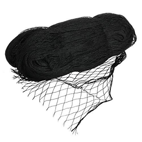 VIIRKUJA 4 x 10 m feinmaschiges Teichnetz (18 x 18 mm) | Farbe Schwarz | Vogelschutznetz, Laubnetz, Vogelabwehrnetz, Teichabdecknetz, Vogelschutznetz