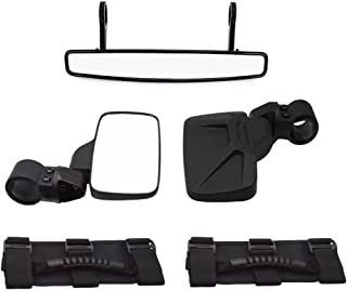 Dasen Center&Side Adjustable Rear Wide View Race Mirror Kit w/Grab Handle Fit Can-am Maverick MAX X3 1000R Commander X/800/1000