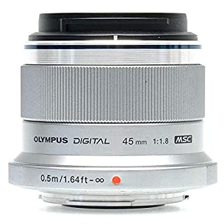 Olympus M.Zuiko Digital 45mm F1.8 Lens, for Micro Four Thirds Cameras (Silver) (B0058PL9QG)   Amazon price tracker / tracking, Amazon price history charts, Amazon price watches, Amazon price drop alerts