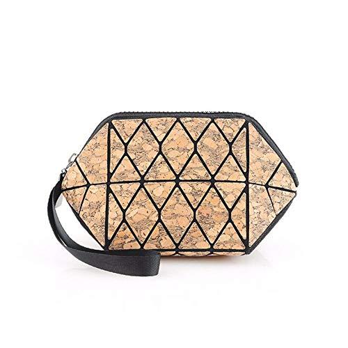 Sac de cosmétiques imitant Le Bois veilleuse cosmétique des schémas Rhombus cosmétique Sac Sac Un
