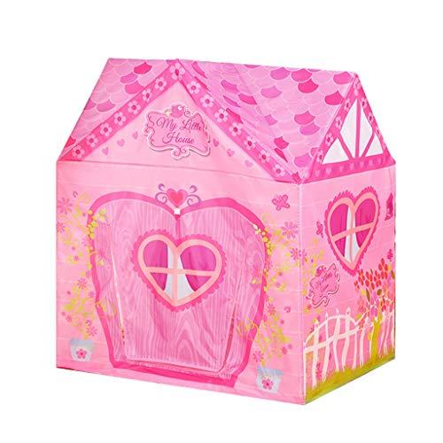 C-J-Xin Pink Girl's Garden-shaped Tent, Outdoor Indoor Dual-use TentKids Playhouse Tents/for Children's Activities/95 * 72 * 102CM Play Tents (Color : Pink, Size : 95 * 72 * 102CM)