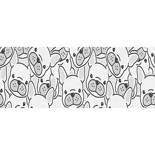 InterestPrint Dog French Bulldog Puppy Face Gift Wrapping Paper Roll for Birthday, Mother Day, Valentine's Day (2 Rolls)