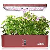 iDoo Huerto de Interior, 12 Vainas Jardinería de Interior y Lámpara LED de Crecimiento, Smart Garden con Temporizador Automático, Altura Ajustable, ID-IG301 Kit de Germinación