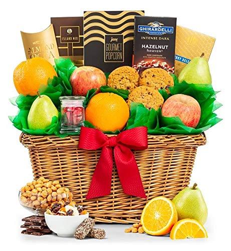 GiftTreeFive Star Premium GradeFruits Basket   Includes Pears, Apples, Oranges   Enjoy Almond...