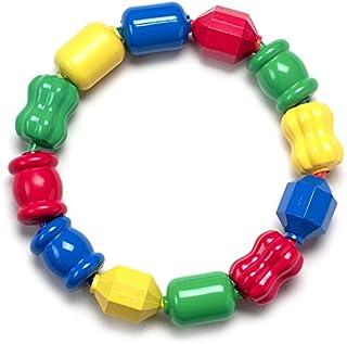 Fisher-Price cubos de construcción formas de abalorio, 12 abalorios coloridos