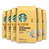 Starbucks Blonde Roast Whole Bean Coffee — Veranda Blend — 100% Arabica — 6 bags (12 oz. each)