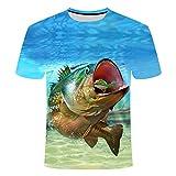 RelaxLife Hombre 3D Estampado Camiseta Nueva Camiseta De Impresión 3D De Moda Fresca Camiseta De Pescado 3D Masculina Femenina Camiseta De Hip Hop...