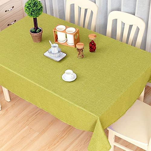 YOUYUANF - Mantel rectangular de plástico, mantel impermeable, algodón y lino, mantel rectangular, mesa de comedor antifouling jardín, picnic, 140 x 200 cm