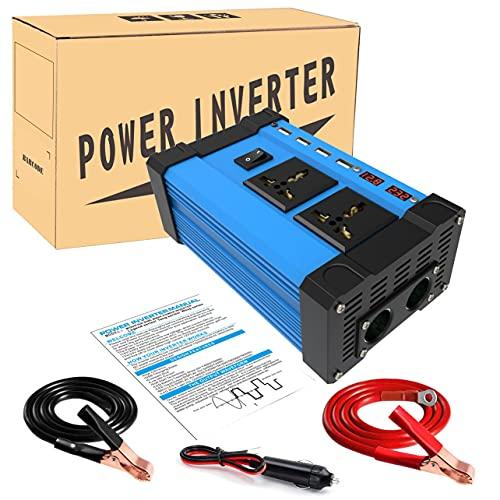 OKAYOU インバーター300WコンバーターDC12Vから交流カラーディスプレイUSB3.6A急速充電自動車アクセサリー