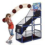 YQZ Juego de Arcade de Baloncesto para niños de Interior con 2 Pelotas, máquina de Tiro de aro de Baloncesto para niños y jóvenes, Sistema de Entrenamiento de Tiro de Baloncesto