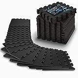 Veluris Bodenschutzmatte Fitness [31x31cm] - 18 extra Dicke Bodenmatten [20% mehr Schutz] -...