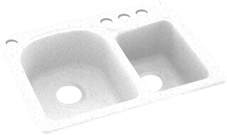 Max 47% OFF Sales Swanstone KS02518DB.035-4 4-Hole Solid Surface Sink Kitchen 18