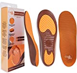 Plantar Fasciitis Shoe Inserts for Women | Arch Support Insoles | 24cm - Size K (6-8) US | Trim to Fit I Kids Orthotic Insoles with Vushion for Flat Feet or High Arch | Relieve Heel and Foot Pain