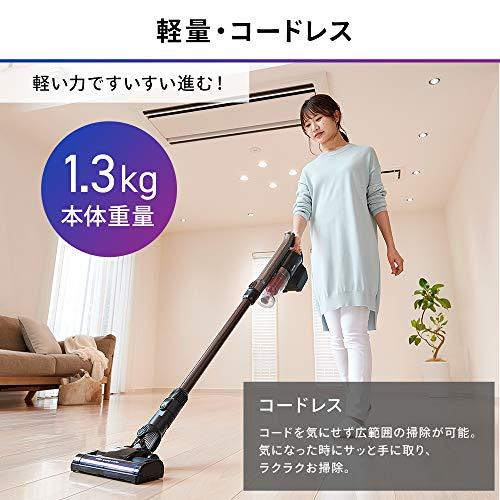 アイリスオーヤマ掃除機コードレスハンディサイクロンスティッククリーナー2WAY軽量1.3kg静音パワーヘッドホワイトSCD-141P-W