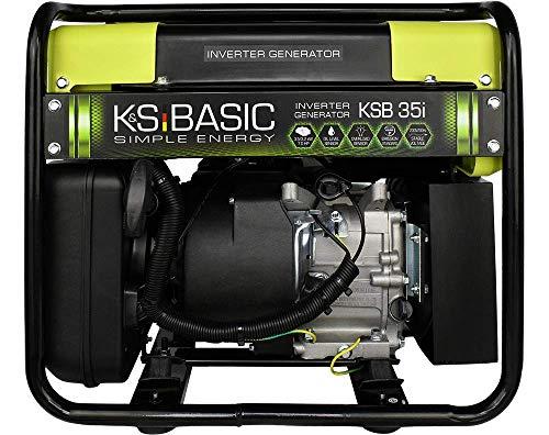 Générateur inverter KSB 35i puissance max 3500 W, conversion double du courant, convient aux appareils sensibles, moteur EURO V, 2x16A (230V), mode économie de carburant. Classe de protection IP23M