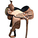 HILASON 16 in Western Horse Ranch Roping Saddle American Leather