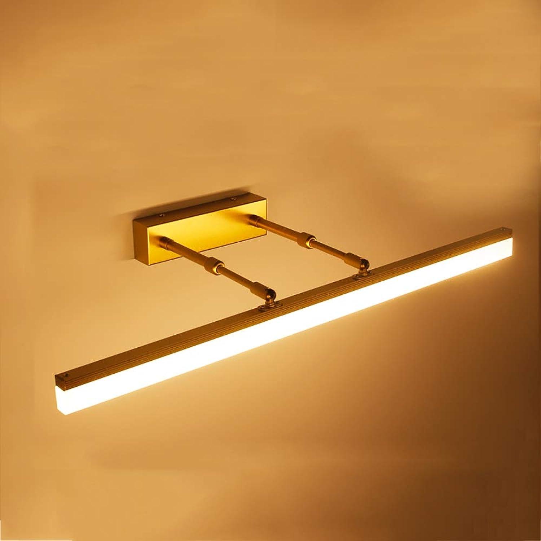LED Spiegel Scheinwerfer, 20W Make-up Lampe Bad Anti-Fog-Wandleuchte einstellbar Rasierspiegel Lampe (Farbe   Warm Weiß light-40cm)
