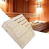 UYT, cuscino in legno per sauna, comodo e pratico cuscino per sauna, poggiatesta e sauna, accessori per collo, dolori alle spalle, salute della colonna vertebrale e rilassamento, cuscino per sauna