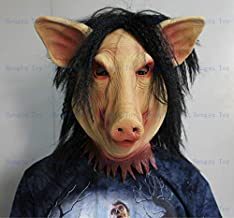 PKRISD 2018 New Halloween Party Cosplay Animal Mask Latex Pig Mask Ugly Mask Disguises of Pig Face Head Mask