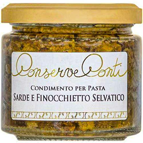 Condimento per Pasta con Sarde e Finocchietto Selvatico in olio extravergine d'oliva - vaso da ml. 212 - produzione artigianale Conserve Conti