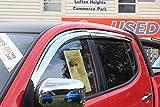 Autoclover Jeu de déflecteurs d'air chromés pour Mitsubishi L200 2006-2015 Double cabine (4 pièces)