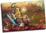 Hyrule Warriors Age of Calamity - Lienzo decorativo para pared (45,72 x 30,48 cm), diseño de la leyenda de Zelda, para dormitorio de niños y niñas, estirado y listo para colgar