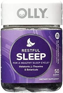 OLLY Restful Sleep Gummy Supplements, Blackberry Zen, AssortedSize 2Pack ( 100 Count Each )