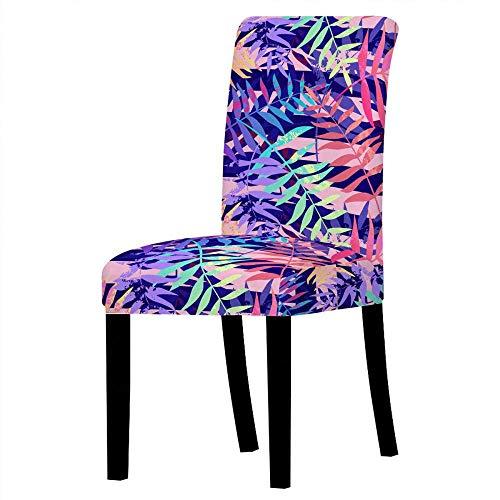 Wyxy Fodere per sedie per sedie da Pranzo Set di 4 Fodere per sedie Ciano Viola Blu Rosa Fodere per sedie da Pranzo Elasticizzate e Facilmente Lavabili Fodere per sedie da Pranzo in Spandex, copr