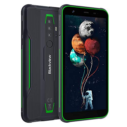 Blackview BV6300 Ultra Slim Outdoor Smartphone ohne Vertrag - 5,7 Zoll HD+ Display Android 10, 13MP Quad-Kamera mit Smart HDR, Octa-Core 3GB/32GB, 4380mAh Akku, Dual SIM Handy - Global Version - Grün