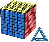 Speed Magic Puzzle Cube/ Cubo del rompecabezas del cubo 8x8x8 del cubo cubo de la velocidad con pegatinas Juego Anillo Smooth Racing Competencia Niño Estudiante Juego del Cerebro (Color: Negro) / Prof