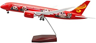 1:130 Scale 43Cm Boeing 787 HNA Panda with Wheels And Lights Airplane Model Airliner Model,Resin Material,Gift