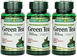 small Nature's Bounty Green Tea Extract, 315 mg, 300 capsules (3 bottles of 100)
