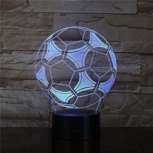 Fußball Fan Fußball e 3D LED Nachtlicht USB Tischlampe Kinder Geburtstag Geschenk Nachtdekoration am Bett
