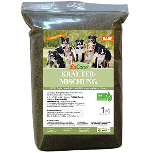 LuCano 1 kg Barf Kräuter - Mischung | Futterergänzung für Hunde