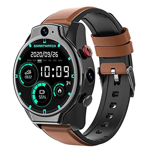 zyz El Nuevo Reloj Inteligente 4G 5Atm Impermeable, Masculino Nueva Cámara Dual, Cámara Dual, 1,6 Pulgadas 1100Mah, Adecuada para Android,A