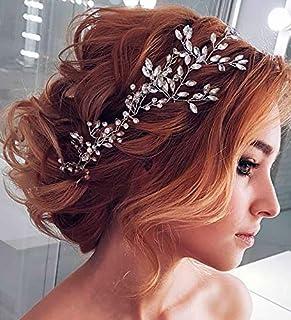 FXmimior - Pettine per capelli da sposa, accessorio per capelli da sposa, con cristalli, accessorio da sposa