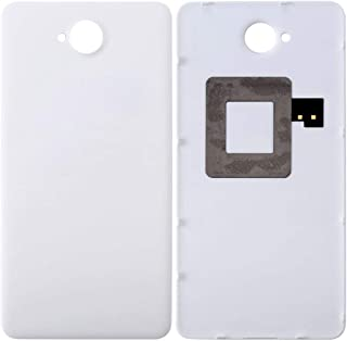 209925 Direct Factory Smartphone Replacement Parts Repair Spare Parts for Microsoft Lumia 650 Battery Back Cover with NFC Sticker(Black) Mobile Phone Parts (Color : White)
