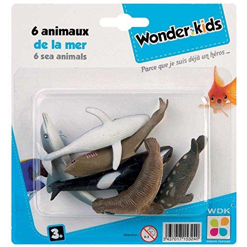 Wonderkids - A1500122 - 6 Figurines Animal De La Mer