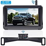 Rohent HD 1080P Digital Signal Wireless Backup Camera 5'' Monitor License Plate Hitch Rear/Front View Camera Observation System for Cars,Trucks,Campers SUVs IP69 Waterproof Super Night Vision - R3