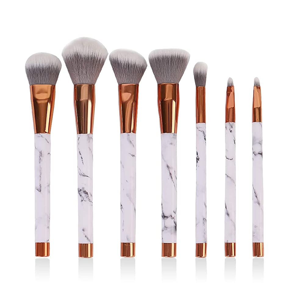 LING-EU Makeup Brush Set, 7 Pcs Professional Foundation Blending Blush Eye Face Liquid Powder Cream Cosmetics Brushes & Travel Pouch