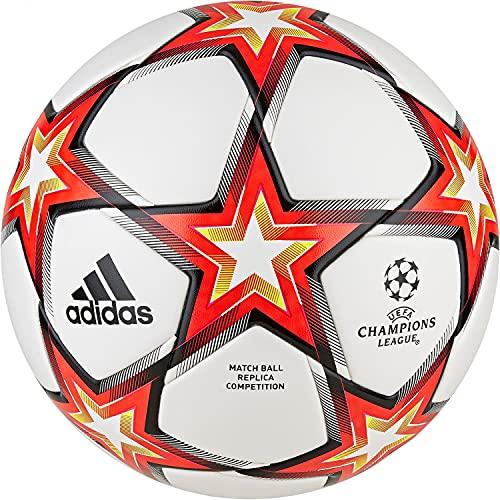 adidas UCL COM PS Palla, Gioventù Unisex, Bianco/Rosso, Amasol/Nero (Multicolore), 38