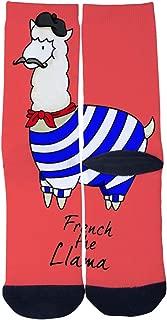 French the Llama Socks Mens Womens Personality Custom Casual Socks Fashion Creative Sports Crew Socks