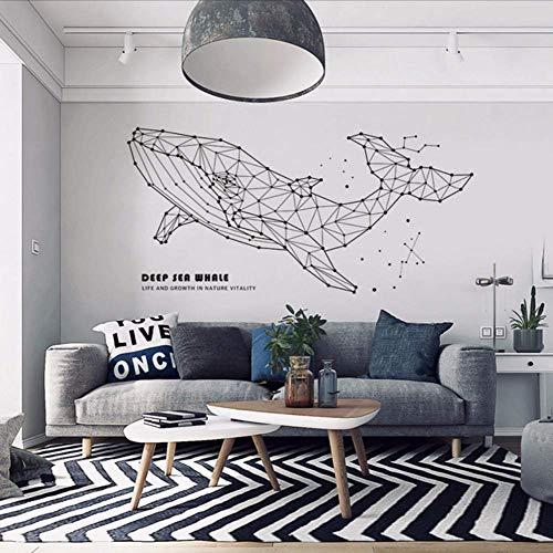 Farbe Schwarz Geometrische Wand Tier Pvc Aufkleber Diy Wal Qualle Elefant Elch Wandtattoos Für Schlafzimmer Dekoration Raum