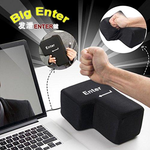 FUVOYA Big Enter Key Coussins USB Bureau Soulagement du Stress Ventilation Outils Creative Clavier Oreiller Clavier Jouet