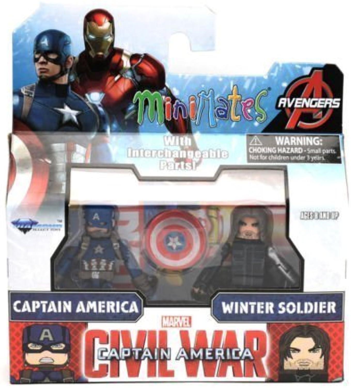 Minimates Captain America  Civil War Cap and Winter Soldier Figure by Diamond Select